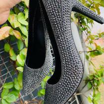 Michael Kors Size 8.5 Pumps  Grey Rhinestone  High Heel Photo