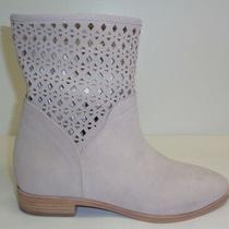 Michael Kors Size 8 M Sunny Cement Suede Bootie Ankle Boots New Womens Shoes Photo