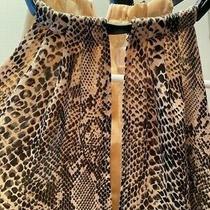 Michael Kors Size M Sleeveless Snakeskin Pattern Top Buckle Detail Front Opening Photo