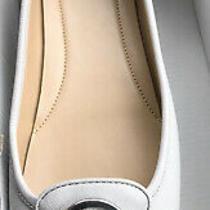 Michael Kors Slip on Fulton Moccasins Flats Leather Beige Light Grey Shoes  11 Photo