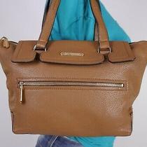 Michael Kors Small Brown  Leather Shoulder Hobo Tote Satchel Purse Bag Photo