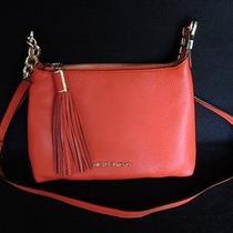 Michael Kors Small Weston Messenger Bag Tassel Shoulder Orange Authe (Njl007368) Photo