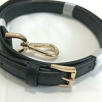 Michael Kors Smooth Leather Handbag Adjustable Strap  Black/gold 46