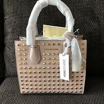 Michael Kors Studio Mercer stud&grommet Md Messenger Bag Blush Pink  Photo