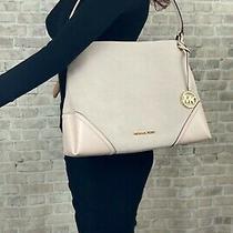 Michael Kors Suede Leather Nicole Medium Shoulder Bag Purse 398 Powder Blush Photo