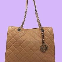 Michael Kors Susannah Blush Quilted Leather Tote Shoulder Bag Msrp 398.00 Photo