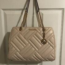 Michael Kors Susannah Large Blush Quilted-Leather Tote Hand Bag Photo