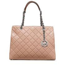 Michael Kors Susannah Large Quilted-Leather Tote - Blush Photo