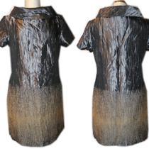 Michael Kors Taffeta Gray Cowl Neck Tunic Dress 10 / L Photo