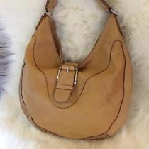 Michael Kors Tan Leather Vintage Hobo Shoulder Bag Photo