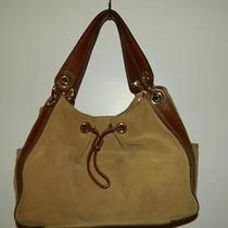 Michael Kors Tan Suede Leather Hobo Tote Purse Handbag Photo