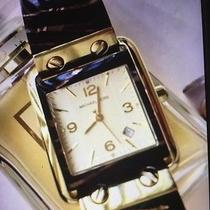 Michael Kors Tiger Print Gold and Brown Watch Photo