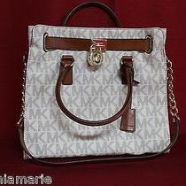 Michael Kors Tote  Hamilton Large Signature  Bag Vanilla 30t2ghmt3b Photo
