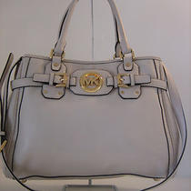 Michael Kors Vanilla Leather Hudson Tote Bag Satchel msrp448.00 Photo