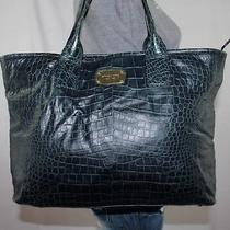 Michael Kors Very Lrg Dark Green Leather Shoulder Hobo Tote Slouch Purse Bag Photo