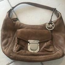 Michael Kors Vintage Brown Soft Leather Hobo Handbag Photo