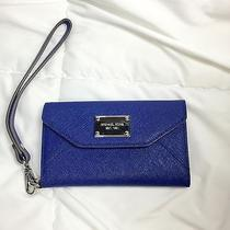Michael Kors Wallet Clutch for Iphone 5 5s Sapphire Blue Saffiano Leather