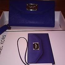Michael Kors Wallet Clutch for Iphone Sapphire Addison  Photo