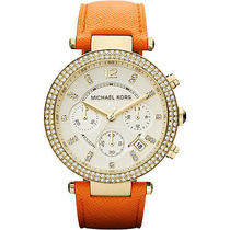 Michael Kors Watches Parker - Gold Case/ Orange Strap Photo