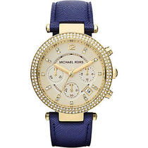 Michael Kors Watches Parker Watch - Blue/gold Photo