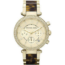 Michael Kors Watches Parker Watch - Gold and Tortoise Photo