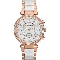 Michael Kors Watches Parker Watch - White/rose Gold Photo