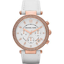 Michael Kors Watches Parker - White/rose Gold Photo