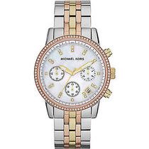 Michael Kors Watches Ritz - Rose Gold Silver and Gold Photo