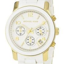 Michael Kors Watches White Pu Runway Watch Accessories Photo