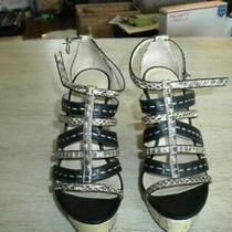 Michael Kors Wedge Sandals Black / Gray 6 M Photo