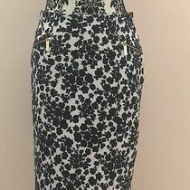 Michael Kors White/black Floral Skirt Sz 6 Photo