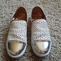 Michael Kors White Rose Gold Metallic Shoes Size 2 Youth Girls Photo