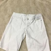 Michael Kors White Womens Denim Short Size 6 Photo