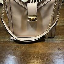 Michael Kors Whitney Chain Shoulder Tote Bag Soft Pink Blush Gold Leather Guc Photo