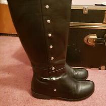 Michael Kors  Women's Black  Zipper Boots Size 6 Preowned Photo