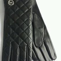 Michael Kors Women's Leather Gloves Extra Large Black Mk 535398 Nwt Photo