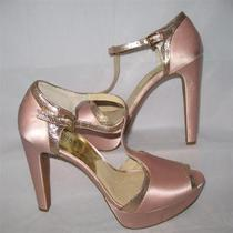 Michael Kors Women's Satin Blush Platform Sandal Size 10.5 M Photo