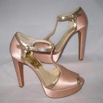 Michael Kors Women's Satin Blush Platform Sandal Size 8 M Photo