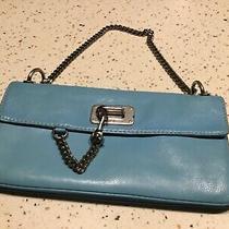 Michael Kors Womens Teal Chain Clutch Bag Photo