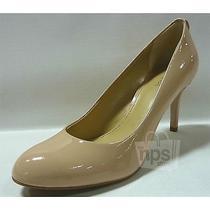 Michael Kors Womens Flex Pump Heels Sz 7.5 Light Blush Patent Leather 40f3mfmp2a Photo