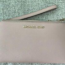 Michael Kors Wristlet /double Zip /wallet / Phone Case- Blush Color  Photo