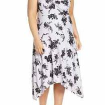 Michael Michael Kors Bicolor Bloom Midi Dress Blooming Hanky Floral Lavender 1x Photo