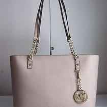 Michael Michael Kors Blush Jet Set Item  Leather Ew Chain Tote Bag Handbag Photo