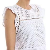 Michael Michael Kors Broderie Anglaise White Cotton Top M Photo