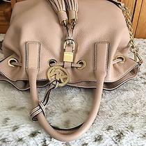 Michael Michael Kors Camden Medium Leather Drawstring Satchel Blush 358 Retail Photo