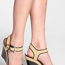 Michael Michael Korscamilla Wedge Sandals High Heels Black  Photo