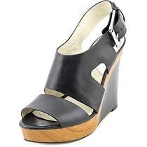 Michael Michael Kors Carla Womens Size 7 Black Wedge Sandals Shoes No Box Photo