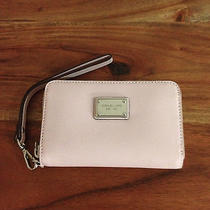 Michael Michael Kors Essential Zip Iphone Wallet Blossom Saffiano...new in Box Photo