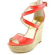 Michael Michael Kors Gabriella Wedge Womens Size 8.5 Pink Wedges Heels Shoes Photo