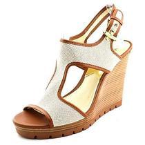 Michael Michael Kors Gillian Wedge Womens Size 7.5 Tan Wedge Sandals Shoes Photo